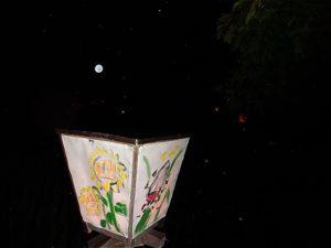 ほっと蛍の里 埼玉県羽生市 ホタル観賞会 手作りの行燈
