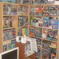 史さん電子ゲーム コレクション棚
